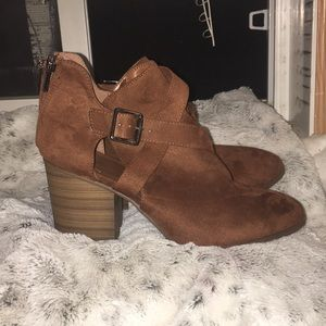 Shoes - Brown suede boots, brand new never worn.